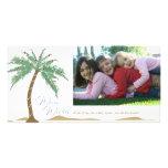 Christmas Warm Wishes, Palm Tree Beach Photo Cards