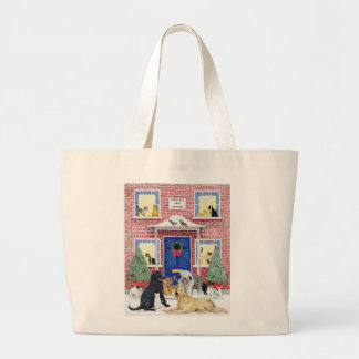 Christmas Warmth Large Tote Bag