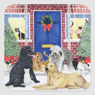 Christmas Warmth Square Sticker