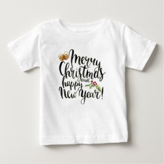 Christmas | Watercolor - Happy New Year Quote Baby T-Shirt