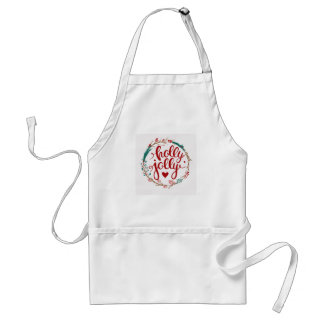 Christmas | Watercolor - Holly Jolly Wreath Standard Apron