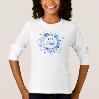 Christmas | Watercolor - Let It Snow Snowflakes T-Shirt