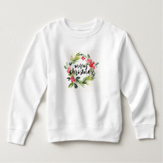 Christmas | Watercolor - Merry Christmas Wreath Sweatshirt