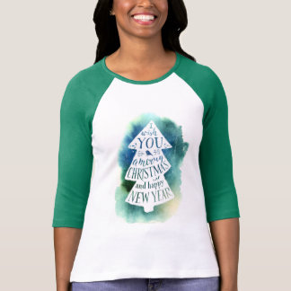 Christmas | Watercolor - Seasons Greetings Quote T-Shirt