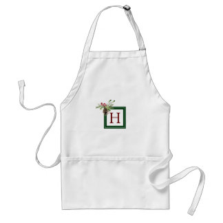 Christmas | Watercolor - Vintage Holly & Pinecone Standard Apron