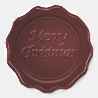 Christmas wax seal sticker