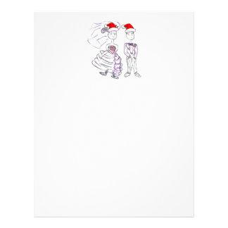Christmas Wedding Bride and Groom Customized Letterhead
