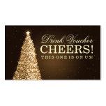 Christmas Wedding Drink Voucher Gold Business Card
