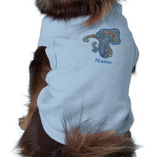 Christmas wedding ornament. Stylish paisley design Dog T Shirt