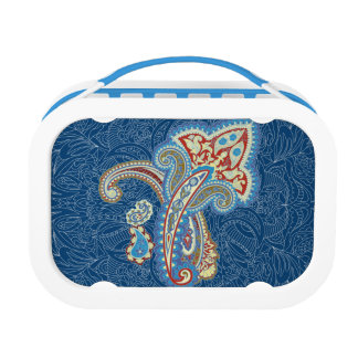 Christmas wedding ornament. Stylish paisley design Lunch Boxes