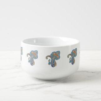 Christmas wedding ornament. Stylish paisley design Soup Mug