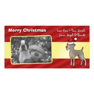 Christmas Weimaraner Card