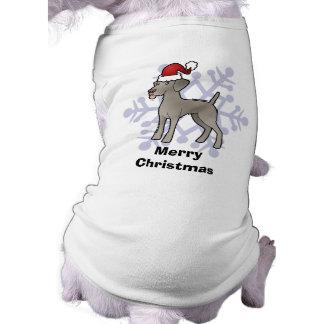 Christmas Weimaraner Doggie Shirt