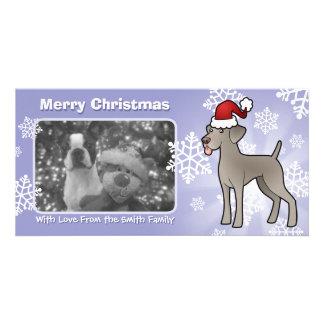 Christmas Weimaraner Photo Greeting Card