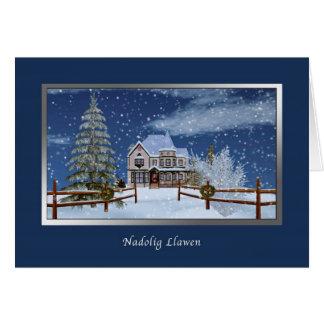Christmas, Welsh Language,  Nadolig Llawen Card