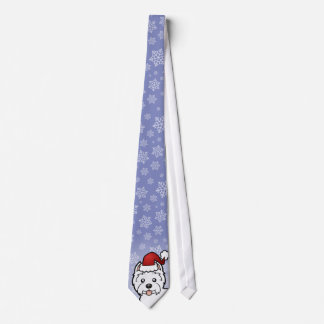 Christmas West Highland White Terrier Tie