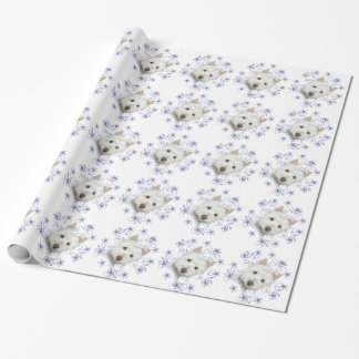 Christmas Westie dog art Wrapping Paper