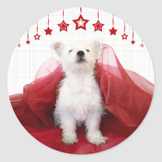 Christmas Westie Stars Stickers