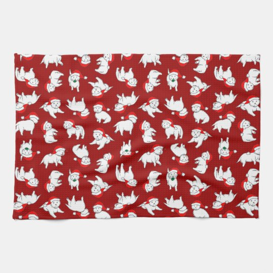 Christmas Westies Tea Towel
