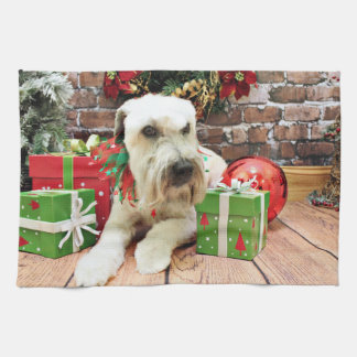 Christmas - Wheaten Terrier - Irish Kitchen Towel