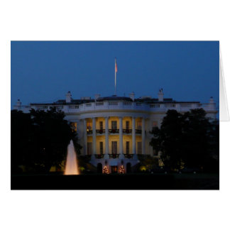 Christmas White House at Night in Washington DC Card