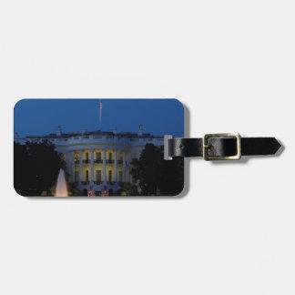 Christmas White House at Night in Washington DC Luggage Tag