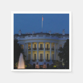 Christmas White House at Night in Washington DC Paper Napkins