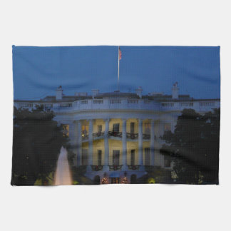 Christmas White House at Night in Washington DC Towel