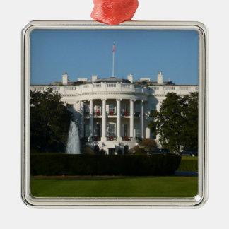 Christmas White House for Holidays Washington DC Metal Ornament