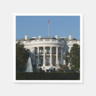 Christmas White House for Holidays Washington DC Paper Napkins