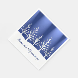 Christmas White Trees Snow Napkin