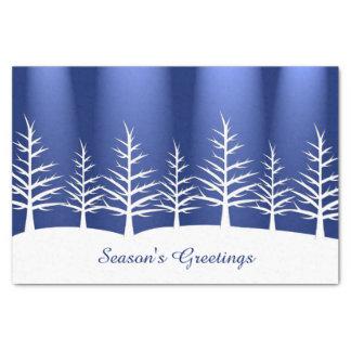 Christmas White Trees Snow Tissue Paper