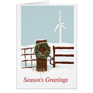 Christmas Wind Farm Card
