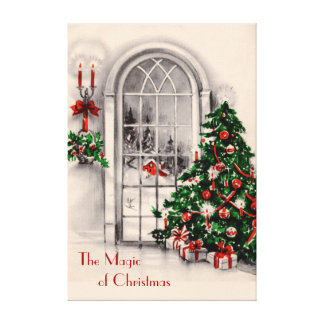 Christmas Window Large Canvas Print