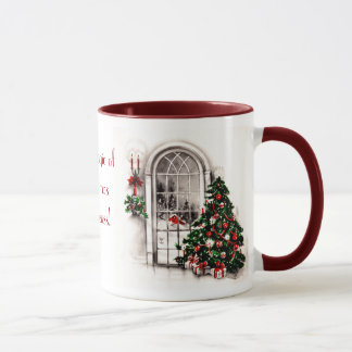 Christmas Window Lights Photo Mug
