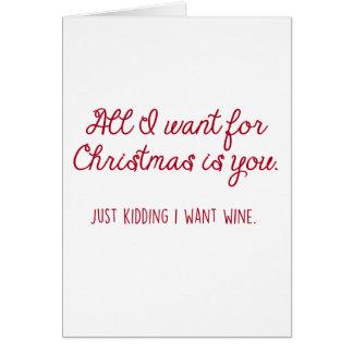Christmas Wine Card