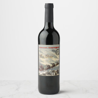 Christmas Wine delivered by Sleigh Wine Label