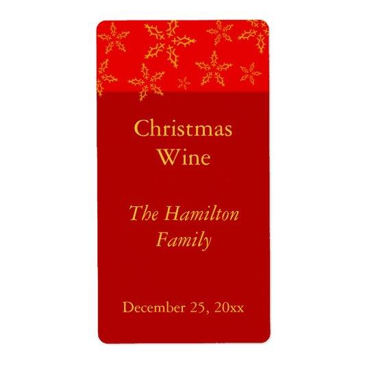 Christmas Wine Label