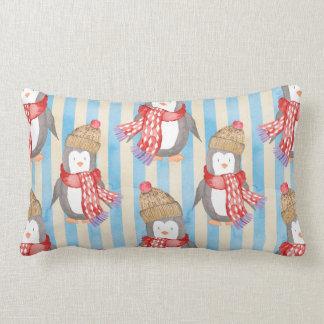 Christmas Winter Penguin Lumbar Pillow