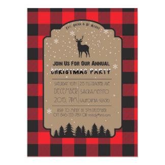 Christmas Winter Rustic Deer Party Invitation