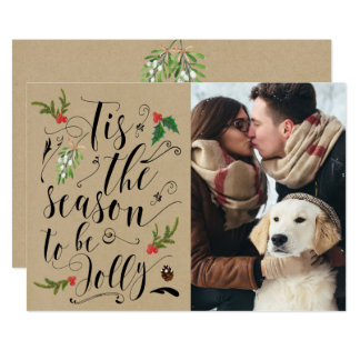 Christmas winter Save the Date card invitation
