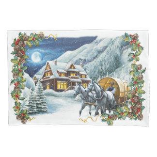 Christmas Winter Scene (1 side) Pillowcase