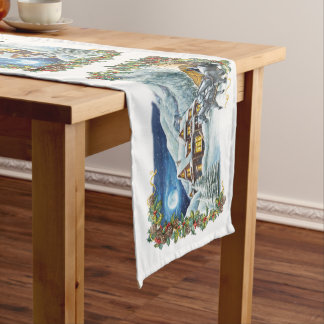 Christmas Winter Scene Short Table Runner
