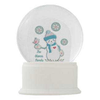 Christmas Winter Snowman Custom Snowglobe