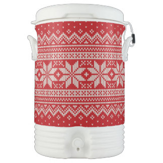 Christmas Winter Sweater Knitting Pattern - RED Drinks Cooler