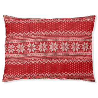 Christmas Winter Sweater Knitting Pattern - RED Pet Bed