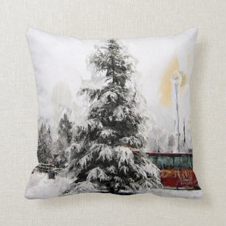 Christmas Winter Tree Throw Pillow