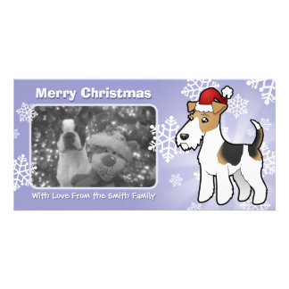 Christmas Wire Fox Terrier Customized Photo Card