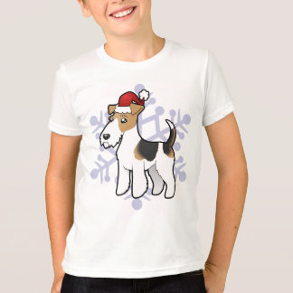 Christmas Wire Fox Terrier T-Shirt