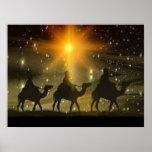Christmas Wise Men Golden Star of Bethlehem Poster